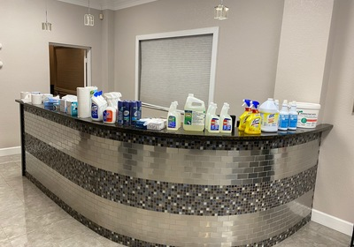 Toilet Paper, Disinfectants, and other cleaning chemicals